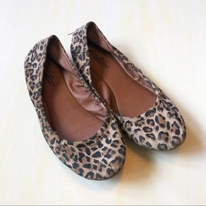 Lucky Brand Brown Animal Print Flats 7